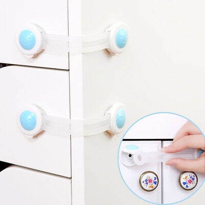 5X Child Baby Cupboard Cabinet Safety Locks Proofing Door Drawer Fridge