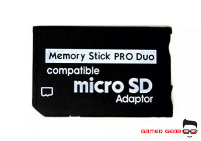 Micro SD SDHC TF To Pro Duo Memory Stick MS Adapter for PSP