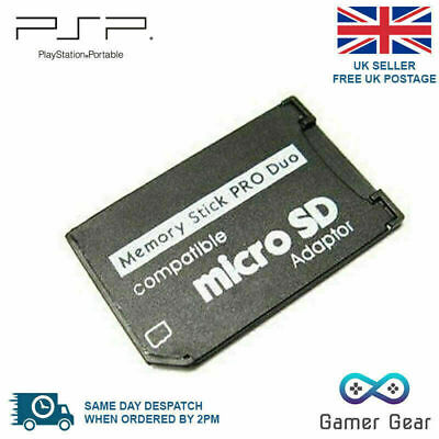 Micro SD SDHC TF To Pro Duo Memory Stick MS Adapter for Sony Cameras