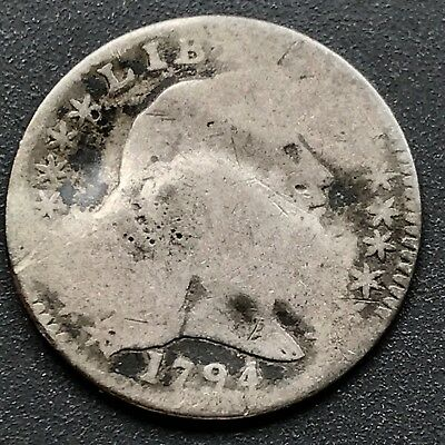 1794 Flowing Hair Half Dime 5c First Year VERY RARE Philadelphia #6397