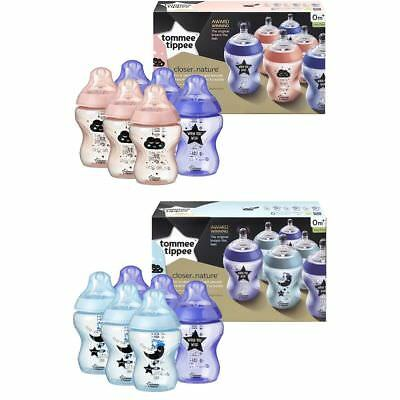 Tommee Tippee 6 x 260ml Catch Me Quick Closer to Nature Bottles 0m+