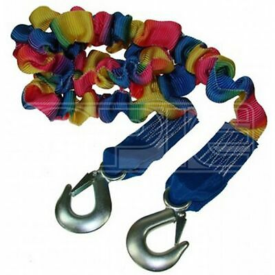 Maypole Tow Rope 1.75 - 4m Length Elasticated (Max load 3000kg) Forged Hooks