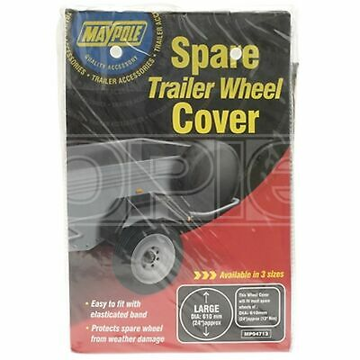 Maypole Trailer Spare Wheel Cover - For 13in. Diameter Wheels (94713)