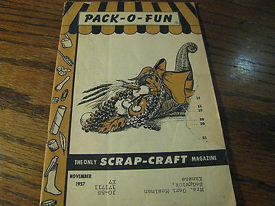 Pack O Fun Scrap-Craft Magazine 1957 November