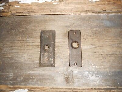 Vtg Low Price 2 Small Brass Antique Door Knob Back Plates Arts/crafts Pinterest