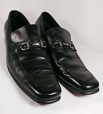dcc39dbb345 Gucci Solid Black Leather Dress Half strap Nib Loafers Italy US 8.5 E EUR  42 E.