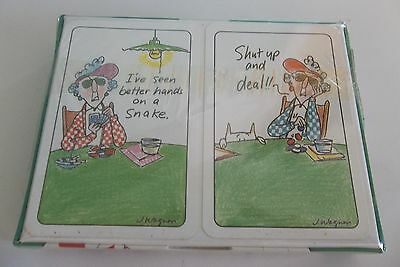 Maxines playing cards 500 picclick maxine shoebox greetings hallmark double deck playing cards austria unoped mib m4hsunfo Image collections
