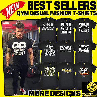 Men's Bodybuilding Fitness Training Workout Gym Clothing body building t-shirts