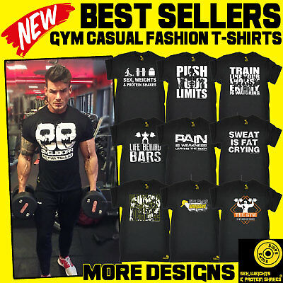 Men's Bodybuilding Fitness Training Workout Gym Clothing fathers day t-shirts