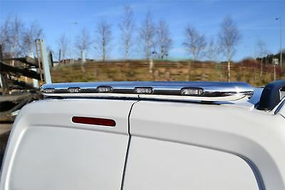 To Fit 2016 - 2019 Citroen Berlingo Stainless Steel Rear Roof Bar Chrome + LED's