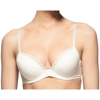9c7ca4faebb CALVIN KLEIN SEDUCTIVE Comfort Customized Lift Bra - Ivory -  46.25 ...
