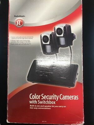 Radioshack 49-105 Color Security cameras with switchbox