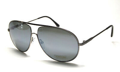 8a0992e975f5a NEW TOM FORD Sunglasses Georges TF 496 Col. Silver Blue Lenses ...