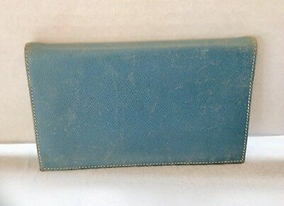 HERMES Agenda/Diary/Day Planner Cover Blue Chèvre Authentic  made in France