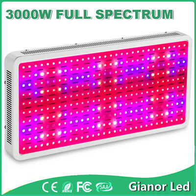3000W Watt LED Grow Light Panel Indoor Full Spectrum Lamp for Hydroponics Plants
