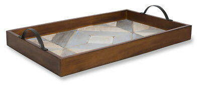 NEW Port Antique Wooden Tray - Lifestyle Traders,Kitchen & Butler Trays