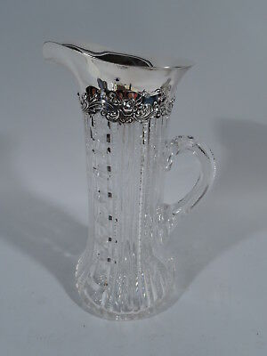 Gorham Claret Jug - D397 - American Brilliant Cut Glass ABC & Sterling Silver