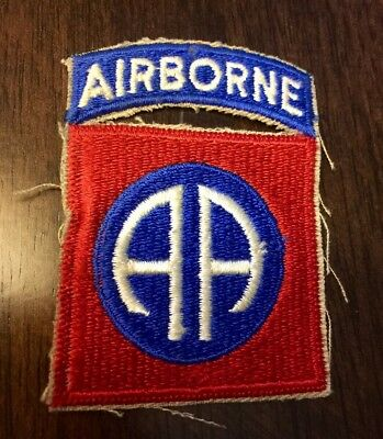 Rare WWII 82nd Airborne Patch Attached Tab From Estate