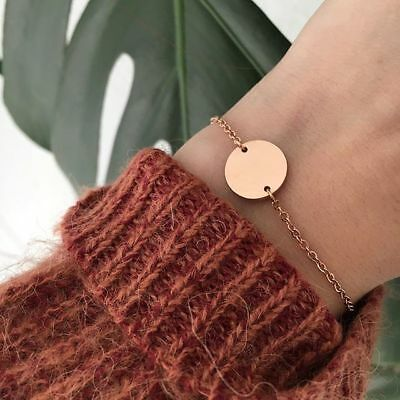 Happiness Boutique Armband Kreis Plättchen Armschmuck in Rosegold