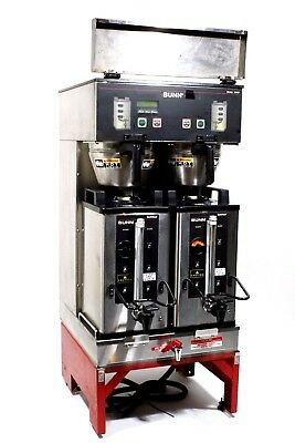 Bunn Dual Sh Dbc  Automatic Commercial Coffee Brewer With Funnels & Servers