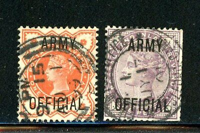 Great Britain Scott # O54, O55 - Used - CV=$10.00