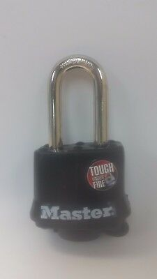 "Master Lock Vinyl-Covered Padlock with 1-1/2"" shackle, 311LF"