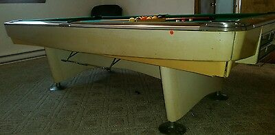 VINTAGE AMERICAN SHUFFLEBOARD Pool Table New Jersey USA - Brunswick gold crown pool table for sale