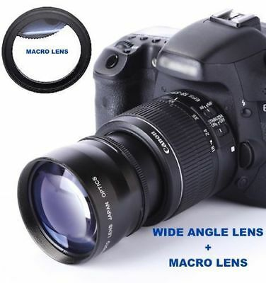 WIDE ANGLE LENS + MACRO KIT FOR CANON EOS REBEL T5 T5I T6 KIT WITH 18-55mm STM