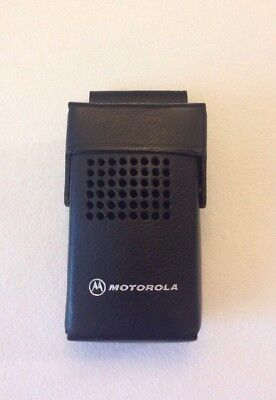 Vintage Motorola Minitor II/Director II Pager Black Leather Case Holster NOS