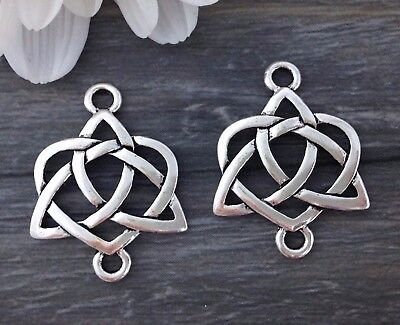 Celtic Knot Connector Charms 2 or 6pcs Earring Jewelry Charm - CH215