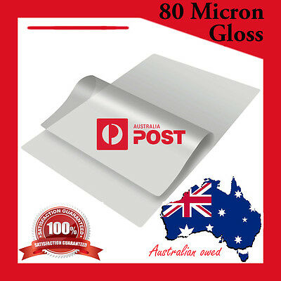 A4 Laminating Pouches 80 Micron 20 Pack Gloss