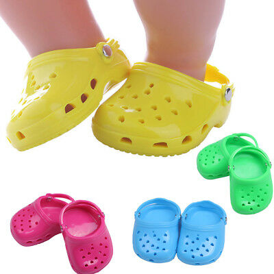 Doll accessories Jelly shoes sandals flip flop for 18 inch American girl doll