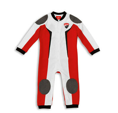 DUCATI CORSE ´14 Baby Pyjama Romper Sleepsuit Overall Leather Suit Design