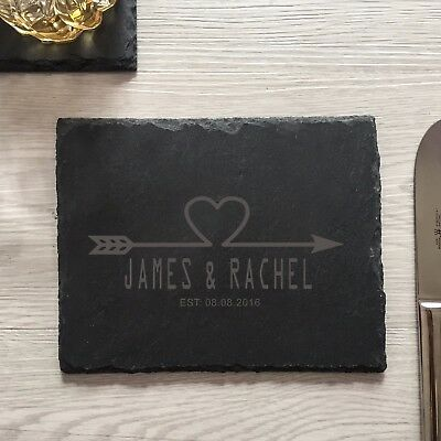 personalized engraved cheese board custom cutting board slate valentine gifts