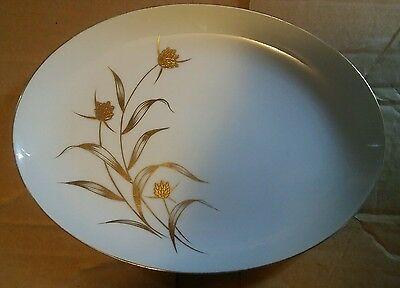 029 Nice Gold China Japan GOld Dahlia Oval Platter NE 2906 Good Vintage Conditio