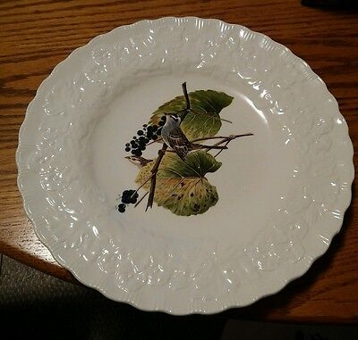 """029 Serving Plate 10 3/4"""" Alfred Meakin England Audubon Society Birds #114"""