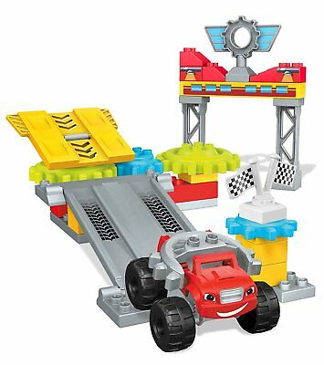 Mega Bloks Blaze Axle City Garage Building Set Ages 3+ Toy Boys Build Play Flag