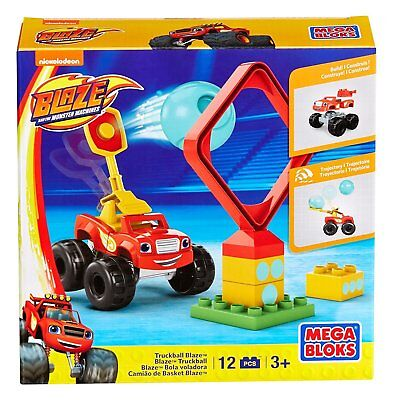 Mega Bloks Monster Machine Truckball Blaze Building Set Ages 3+ Toy Boys Build