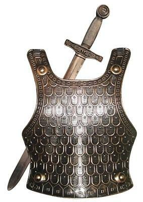 Medieval Knight Armour Set Helmet Sword Shield Fancy Dress Toy Soldier Dragon UK