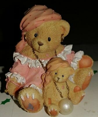 Cherished Teddies Carrie The future Beareth all things fancy pink dress Pearl