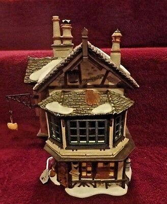 DEPT. 56 Dickens Village 'Ebenezer Scrooge's House' #58490 ANIMATED~ORG BOX~MINT