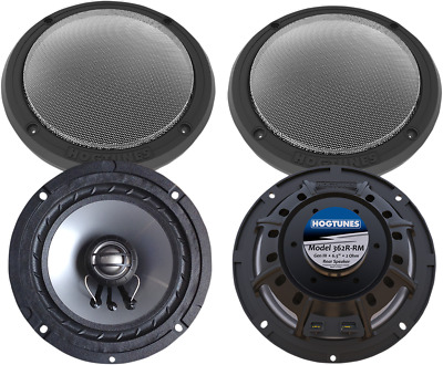 "NEW HOGTUNES 362R-RM 6.5"" Replacement Front and Rear Speakers"