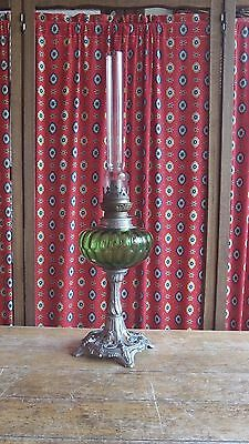 Antique French Vintage Original Oil Lamp Beautiful design Base & Bowl  C 1910
