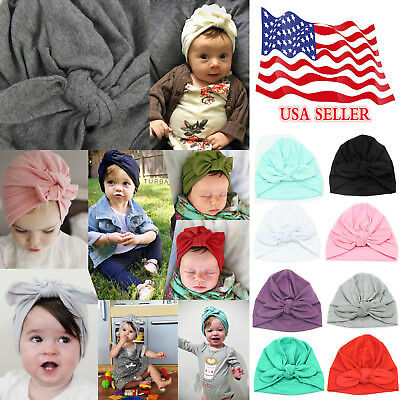 Super Cute Baby Girls Cotton Full-head Baby Turban Headwrap