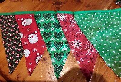 Handmade christmas decorations - Classic Christmas Bunting Flags