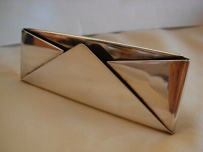 Hazorfim Israel Sterling Silver Table Business Card Holder