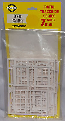 Ratio Windows and Frames Detail Parts, O Scale