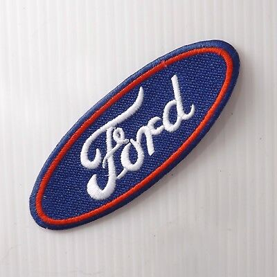 """3.1/2""""x1p. ford motor logo emblem embroidered iron on sew on patch cap racing"""