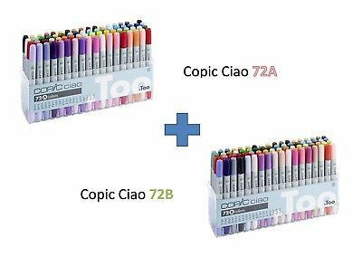 Copic Ciao Marker 72A 72B Combine Set Refillable with Various Copic inks