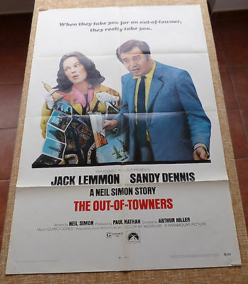 The Out-Of-Towners Movie Poster, Original, Folded, One Sheet, year 1970, U.S.A.